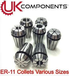 ER11 Carbon Steel Spring Collet - CNC Machine Drill Milling - Clamp - 1mm to 7mm