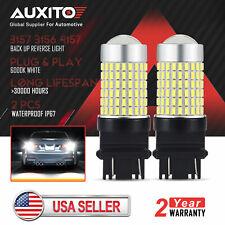 AUXITO 3157 3156 LED Reverse Light Bulbs 6000k for GMC Sierra 2500 HD 2008-2014
