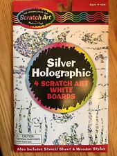 Melissa & Doug Scratch Art Silver Holographic