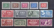 Schweiz 1945 postfrisch MiNr. 447-459  Waffenstillstand in Europa PAX-Satz