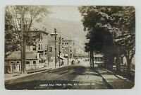 Postcard Real Photo Harris Hill St. Johnsbury Vermont Horse Buggy 1917