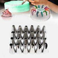 24Pcs Flower Icing Piping Nozzles Tips Cake Sugarcraft Pastry Decor Bake Tools