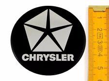 CHRYSLER ★ 4 Stück ★ SILIKON Ø55mm Aufkleber Emblem Felgenaufkleber Radkappen