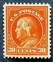 US Stamps, Scott #420 30c 1914 2020 PSAG Cert - GC XF 90 High end 90. CHOICE!!