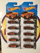 HOT WHEELS 1:64 NISSAN GT-R ORANGE  #282 WORLDWIDE VERSION CASE N LOT OF 10 2017