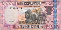 Rwanda 5000 Francs P37 - Free Combine Low Shipping