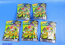 MEGA BLOCKS Teenage Mutant Ninja Turtles Sammelfiguren DMX21 / Serie 1 / 5 Stück