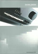 Harman/Kardon Katalog Prospekt 2001 Signature Serie / AVR7000 DVD50 CDR30 HK3470