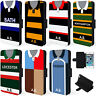 Retro Rugby Shirt iPhone Case Phone Wallet Cover Personalised Gift ALL TEAMS