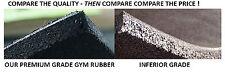 GYM RUBBER TILES - PURE  BLACK - PREMIUM GRADE BUY 50 FOR $1650.00