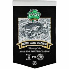 2019 NHL WINTER CLASSIC STADIUM BANNER BOSTON BRUINS CHICAGO BLACKHAWKS 1/1