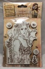 Santoro Willow Le Message Color Me In Cling Rubber Stamp Set - WILLOW