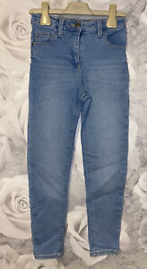 Girls Age 7-8 Years - Blue Skinny Jeans From George