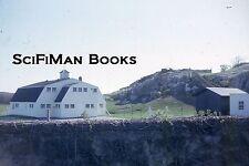 KODACHROME 35mm Slide Old Farm House Barn Rock Stone Wall Fence Chimney 1965!!!