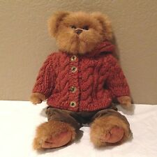 "Bearington Bear Plush -12"" Rust Colored Sweater"