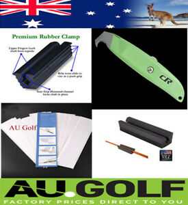GOLF REPAIR REGRIP KIT- Re Grip Kit - Clamp - Pro Knife - 15 pieces 26 cm Gri...