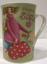Kent Pottery Porcelain Coffee Mug Shopaholic Sister Handbag Shoes Phone Tea Cup