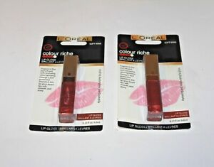 L'OREAL COLOUR RICHE LIP GLOSS 710 SOFT WINE NEW PACK OF 2 CARDED