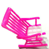 Miniature Doll Rocking Chair Accessories For Doll  Room Dollhouse Decor FF