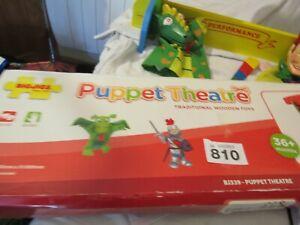 Big Jigs Wooden Puppet Theatre & Puppets