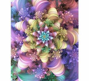 5D Flowers DIY Diamond Painting Multicolor Design Embroidery Portrait Decoration