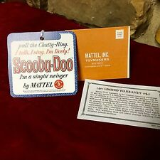 Mattel Reproduction Tags.Warranty, Registration Cards. (SCOOBA DOO DOLL)
