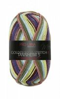 Tannheim 5 4-fach Pro Lana Sockenwolle Stretch bordeaux grün Golden Socks