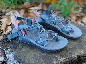 Chaco Z/Cloud X2 Sandal Teal Blue/Coral Sandals Women Sz 8