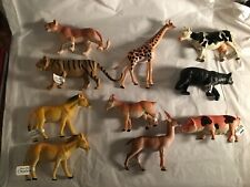 Plastic Toy Animal Lot Of 10 New With Tags