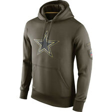 Dallas Cowboys Olive Salute to Service Sideline Therma Hoodie 2019 Pullover