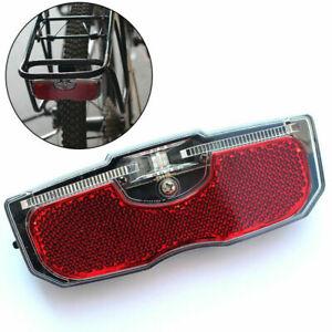 Bike Light Reflector Rear LED Carrier Rack Fit Tail Pannier Light Accessories F~