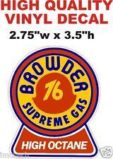 Vintage Style Browder High Octane Supreme Gasoline 76 Gas Pump Decal - The Best!
