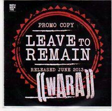 (ED913) Leave To Remain, Wara - DJ CD