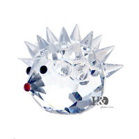 Clear Crystal Glass Hedgehog Lovely Animal Decoration Valentine Boxed Gifts