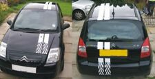 Set of twin line chequered racing Stripes suit Citreon C2 or siimilar car.