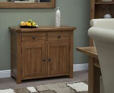 Tilson solid rustic oak living dining room furniture small storage sideboard