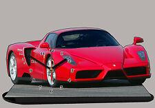 MODEL CARS, FERRARI ENZO RED -01 with Clock