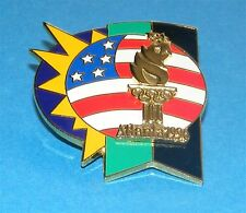 Atlanta 1996 Olympic Collectible Logo Pin - Usa Flag w Sun & Olympic Torch