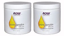 2x NOW FOODS 100% Pure Lanolin 7 oz Moisturizer Protects Chapped Skin Made IN US