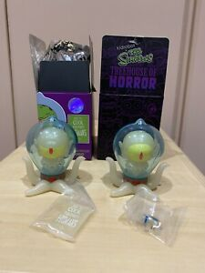 Kang & Kodos Glow Dark Kidrobot Simpsons GITD Horror IamRetro Exclusive Bundle