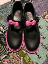 Hello Kitty Dr Martens Sanrio RARE Limited Edition Black/Pink Bow Sz US 9 EU 41
