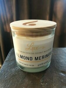 GOLD CANYON Candle Lux ALMOND MERINGUE NEW 12 oz.