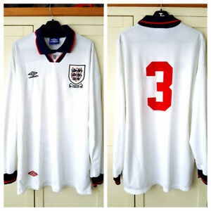 England Match Prepared Shirt (not worn) 1993 Size XL Official Umbro Long Sleeves