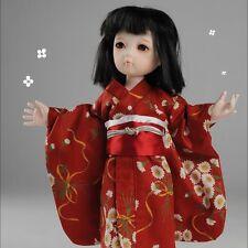 1//4MSD 1//6yasd BJD Clothes Japanese Kimono Suit Navy Robe /& Waistband Akita Dog