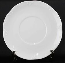 Rosenthal Group Germany Classic Rose Collection White Flourish Edge Saucer G55