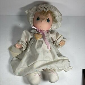 """Vintage Precious Moments Plush doll 1985 with locket And Tags 14"""" Tall Applause"""