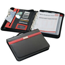 A4 EXECUTIVE RED TRIM CONFERENCE FOLDER ZIP CALCULATOR / PAD 4D RING BINDER 2187
