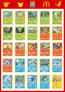 Carte Pokémon McDonalds 25 Anniversario 25th Happy Meal Pikachu Charmander Rare