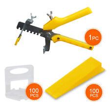 Fliesen Nivelliersystem Verlegesystem Verlegehilfe 100 Laschen+ 100 Keile+ Zange