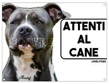 AMSTAFF CARTELLO TARGA ATTENTI AL CANE PVC DOG